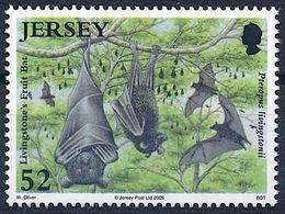 Jersey 2009: Livingstone Fruit Bat (Pteropus Livingstonii) Michel-No.1401 ** MNH  START BELOW POSTAL FACE VALUE (£ 0.52) - Bats