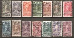 14 Timbres De 1928/30  ( Congo-Belge ) - Congo Belga