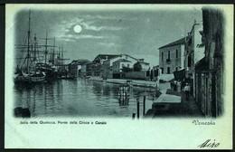 Venezia - Isola Della Giudecca - Ponte Della Croce E Canale - Viaggiata 1899 - Rif.  11673 - Venezia