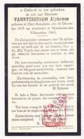 DP Alphonse VanRyckeghem ° Oostrozebeke 1874 † Moeskroen 1943 - Images Religieuses