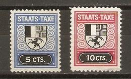 Suisse, Canton Des Grisons - Staats-taxe - 2 Vignettes Taxes - Timbres Fiscaux - Erinnophilie