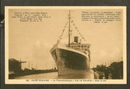 CP-Le Transatlantique Dans Le Sas - St-NAZAIRE - Paquebots