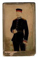 C D V  Militaire Allemand Du Photographe C.A. MÜLLER BERLIN  (  Peint à La Main ? )   Fin 19ème Uniforme RARE - Photographs