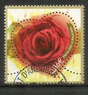 Fête De La Saint George (Sant Jordi – Patron Saint Of Catalonia) Rose Rouge Dans Un Coeur, Oblitéré, 1 ère Qualité - Andorre Français