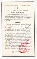 DP Marie Van Roie ° Putte (Arr. Mechelen) 1887 † Antwerpen 1945 - Images Religieuses