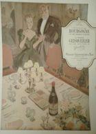 Vin De Bourgogne, Nuits Saint Georges Geisweiler - Publicité Papier 'certitude Qualité' Réception, Table, Bouteille - Publicités