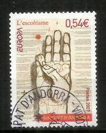 ANDORRA . Salut Scout, Le Scoutisme En Andorre, EUROPA 2007,  Oblitéré, 1 ère Qualité - Scoutisme