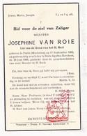 DP Josephine Van Roie ° Putte (Arr. Mechelen) 1882 † Sint-Agatha-Berchem 1948 - Images Religieuses