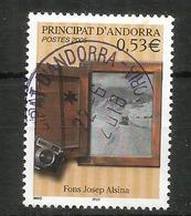 ANDORRA .Année De La Photographie En Andorre, Vue Le La Vallée Enneigée Depuis Une Fenêtre,  Oblitéré, 1 ère Qualité - Andorre Français