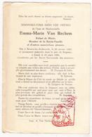 DP Emma M. Van Rechem ° Bevere Oudenaarde 1860 † Gent 1946 - Images Religieuses