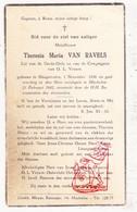 DP Theresia M. Van Ravels ° Hoogstraten 1856 † Mechelen 1942 - Images Religieuses