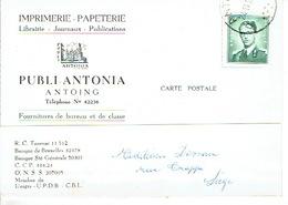 CP Publicitaire ANTOING 1959 - PUBLI-ANTONIA - Imprimerie  - Papeterie - Librairie - Publications -Fournitures De Bureau - Antoing