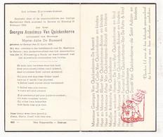 DP Georges Van Quickenborne ° Deinze 1860 † 1943 X Marie J. De Busseré / Colle Boone Roland De Lava Bekaert De St Aubain - Images Religieuses