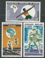 Bénin  N° 397 / 99 X 2ème Jeux Africains De L'afrique De L'Ouest à Lagos Les 3 Valeurs Trace De Charnière Sinon TB - Bénin – Dahomey (1960-...)