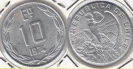 CILE 10 Escudos 1974 KM#200 - Used - Chili