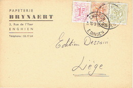 CP Publicitaire ENGHIEN 1959 - BRYNAERT - Papeterie - Edingen