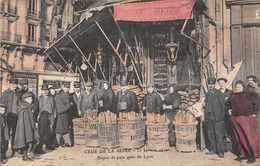 PARIS  -  Crue De La Seine - Dépot De Pain Gare De Lyon ( Belle Carte ..peu Courante En Colorisée) - Inondations De 1910