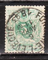 45  Lion Couché - Bonne Valeur - Oblit. Centrale FONTAINE L'EVEQUE - Rousseurs - LOOK!!!! - 1869-1888 Lion Couché