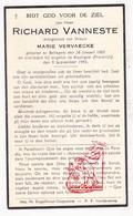 DP Im. Pieuse - Richard VanNeste ° Bellegem Kortrijk BEL 1883 † Boulogne FRA 1943 X M. Vervaecke - Images Religieuses