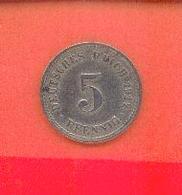 ALLEMAGNE - DEUTSCHESREICH : 5 PFENNIG 1912 A - [ 2] 1871-1918 : German Empire