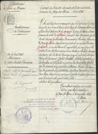 EXTRAIT ACTE DE NAISSANCE DE COUESNON DE JULES ANATÔLE TAMPON MAIRIE JOUY SUR MORIN 1885 : - Manoscritti