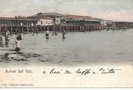 VE419 - SALUTI DA LIDO DI VENEZIA  - FORMATO PICCOLO -  VIAGGIATA 1900 - Venezia