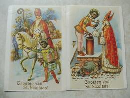 2 Cartes Saint Nicolas Belles Illustrations / 2 Kaarten Saint Nicolas Prachtige Illustraties - Bowling