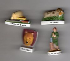Série 4/10 Fèves Mâtes  CHASSE Nordia 2003 - Sports
