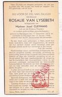 DP Rosalie Van Lysebeth ° Baardegem Aalst 1873 † Merchtem 1944 X J. Cleymans - Images Religieuses