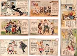 LOT Série De 17 CHROMOS  -publicité Chocolat Carpentier Au Dos Et Recettes Patisserie Au Verso-illustrées Signés-6scans - Recettes (cuisine)