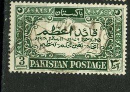 Pakistan 1949 3as Mohammed Ali Jinnah Issue #45 - Pakistan