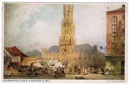 Brugge,  Bruges, La Grande Place A Bruges En 1891 (pk52249) - Brugge