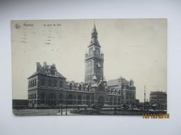 ANVERS  LA GARE DU SUD , RAILWAY STATION ,  USED 1913 PHILADELPHIA USA TO RUSSIA   , OLD POSTCARD , O - Gares - Sans Trains