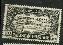 Pakistan 1949 10as Mohammed Ali Jinnah Issue #46 - Pakistan