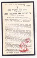 DP Anna P. Van Mechelen ° Sint-Amands 1869 † St.-Niklaas 1942 X A. Roels - Images Religieuses