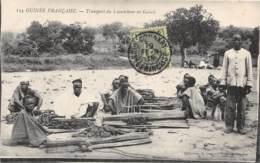 Guinée  Française / Ethnic - Belle Oblitération - 90 - Transport Du Caoutchouc - French Guinea