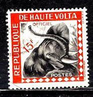 HAUTE-VOLTA S4° 15f Orange Service Tête D'éléphant (10% De La Cote + 015) - Haute-Volta (1958-1984)