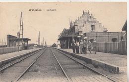 Waterloo - Gare - Animé - 1924 - Edition M. Devillers, Waterloo - Gares - Sans Trains