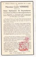 DP Commissaris Oorlogsschade - Louis Verbeke ° Ploegsteert Komen-Waasten 1887 † Ieper 1948 X A. De Duytschaever - Images Religieuses