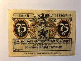Allemagne Notgeld Allemagne Belgard 75 Pfennig - [ 3] 1918-1933 : République De Weimar