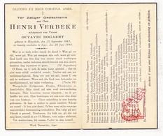 DP Henri Verbeke ° Moorslede 1863 † Ieper 1944 X Oct. Bogaert / Dumalin Carbon Cool Dedie VanDamme Verbouw Mylle Six - Images Religieuses