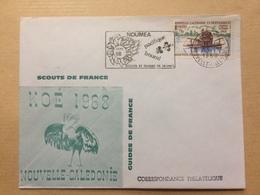 NEW CALEDONIA - NOUVELLE CALEDONIE ET DEPENDANCES -- 1968 Cover - Scouts Et Guides De France - Koe - Noumea - New Caledonia