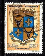 MADAGASCAR 392° 25f Or, Chamois, Bleu Et Noir Armoiries Tananarive (10% De La Cote + 015) - Madagascar (1960-...)