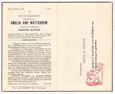 DP Amelia Van Watteghem ° Moerbeke Waas 1860 † Nieuwpoort 1948 X Joseph David / Verleye - Images Religieuses