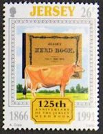 Jersey 1991: 125th Anniversary Of The Jersey Herd Book (Jersey Cow) Michel-No.546  ** MNH - Cows