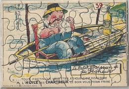 Publicité Huile Des Chartreux Sous La Forme D'un Puzzle - Publicités