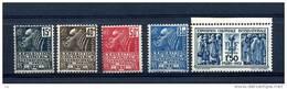 France  :  Yv  270-74  **      ,   N3 - France