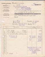 FACTURE---60---BRESLES-( Représentant Charaudeau-destribats-- PAU-sucrerie & Raffinerie à LAPUYADE MONTAUT-BETHARAM 1929 - France