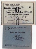 Carte De Soutien - La Pelote Nivelloise - Athénée Royal De Nivelles 1930 - Autres Collections