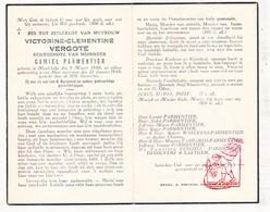 DP Victorine C. Vergote ° Meulebeke 1880 † 1949 X Camiel Parmentier / Waelkens VanParijs DeBouvere Laethem - Images Religieuses